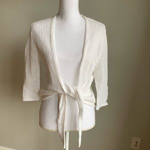 Christopher & Banks open knit cardigan wrap NWT